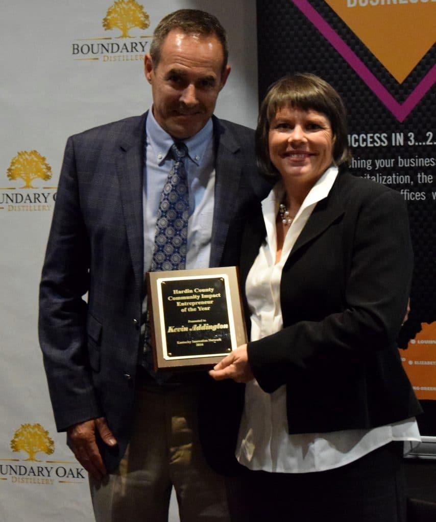 Kevin Addington - Hardin County Community Impact Entrepreneur Of The Year Kevin Addington