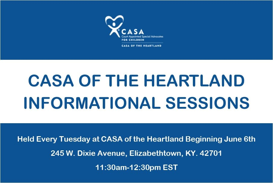 CASA Weekly Info Session Graphic