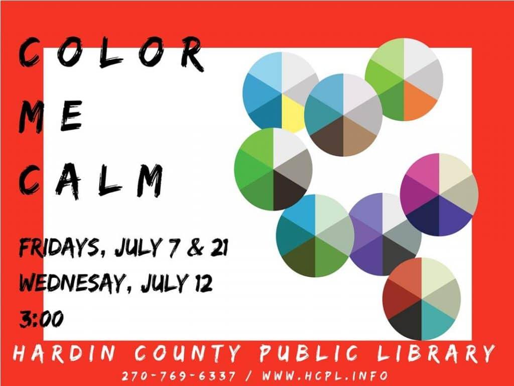 July 7,12,21 Color Me Calm