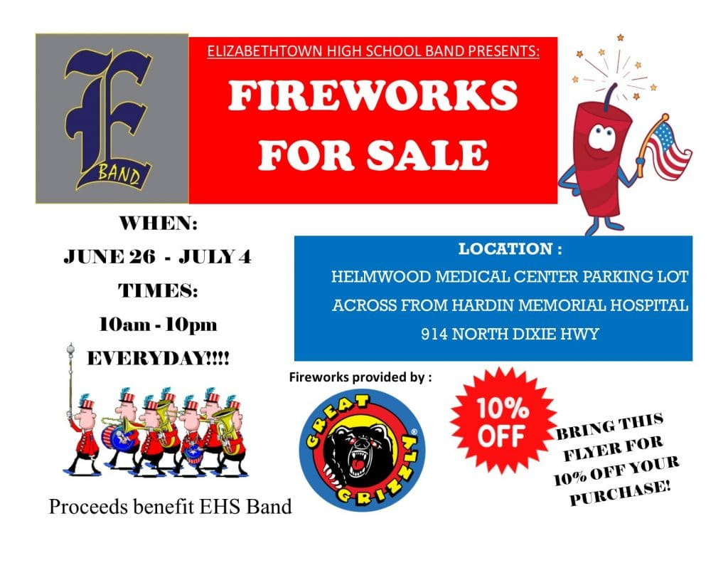 EHS Band Fireworks Booth